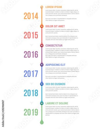 Fototapeta  Timeline Infographics