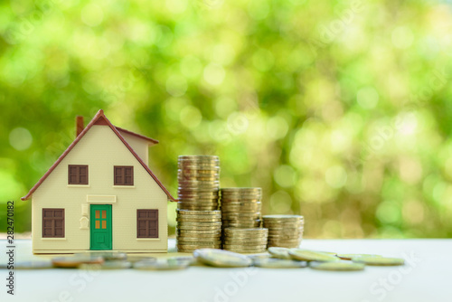 Cuadros en Lienzo  Property investment / reverse mortgage, financial concept : Small home or house