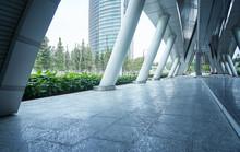 Exterior Of Modern Business Building Corridor