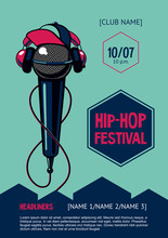 Hip-hop Party Poster With Micr...
