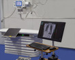 X-Ray room with modern medical equipment in hospital
