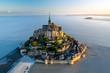 canvas print picture - Mont Saint Michel aerial view