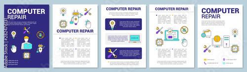 Fotomural  Computer repair brochure template layout
