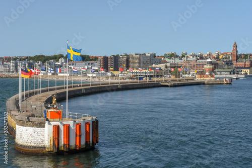 Fotografía  The port of Helsingborg on Sweden