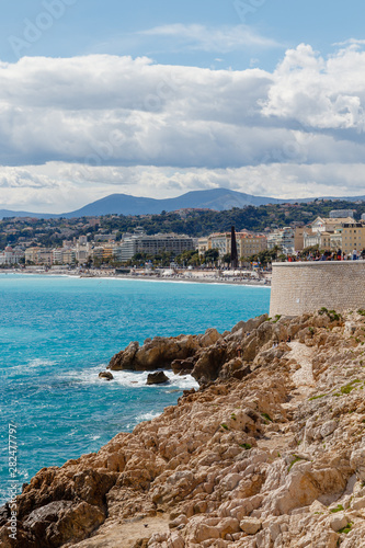 view of the bay of Antibes Tablou Canvas
