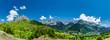 canvas print picture - Lanuza See und Sallent de Gallego, Spanische Pyrenäen, Aragon