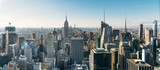Fototapeta Nowy York - Aerial view of the large and spectacular buildings in New York City