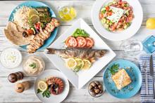 Assorted Popular Greek Plates ...
