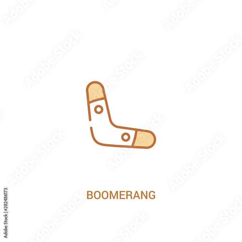 Photo boomerang concept 2 colored icon