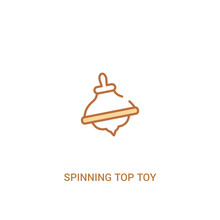 Spinning Top Toy Concept 2 Col...
