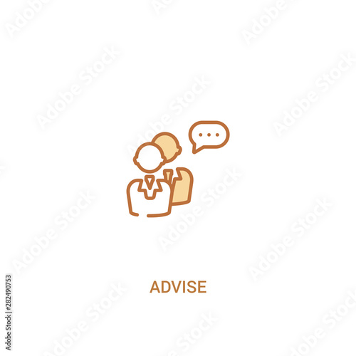 advise concept 2 colored icon Wallpaper Mural
