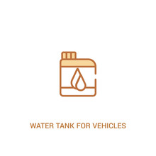 Water Tank For Vehicles Concept 2 Colored Icon. Simple Line Element Illustration. Outline Brown Water Tank For Vehicles Symbol. Can Be Used For Web And Mobile Ui/ux.