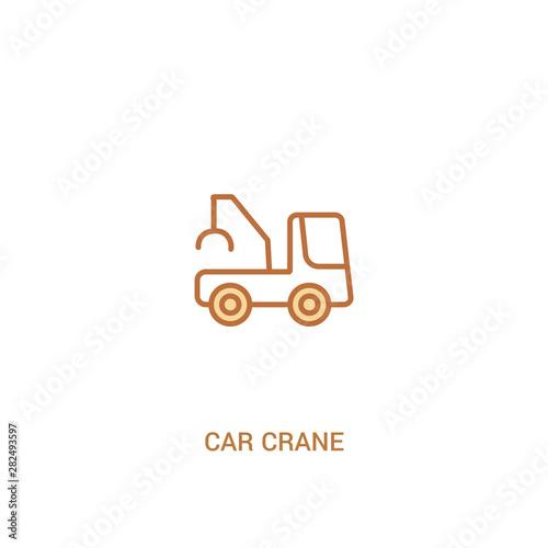 car crane concept 2 colored icon Canvas Print