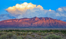Sandia Mountains At Sunset In ...