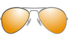 Sunglasses In Metal Frame Avia...