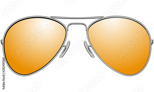 Sunglasses in metal frame aviator model Canvas Print