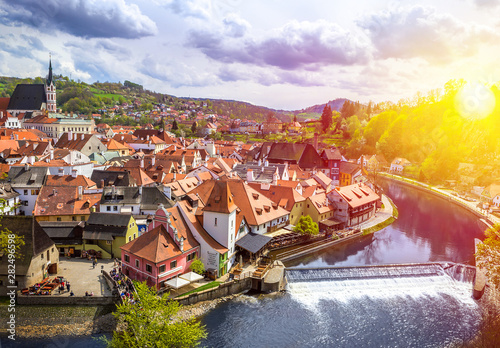 Fotografie, Obraz  The amazing city of Cesky Krumlov in the Czech Republic