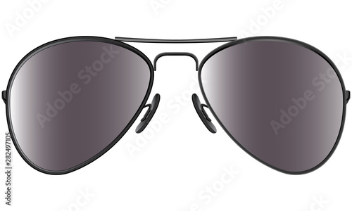 Canvas Print Sunglasses in metal frame aviator model