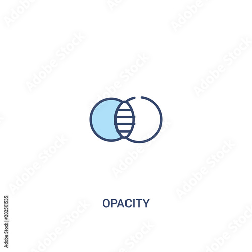 opacity concept 2 colored icon Tablou Canvas