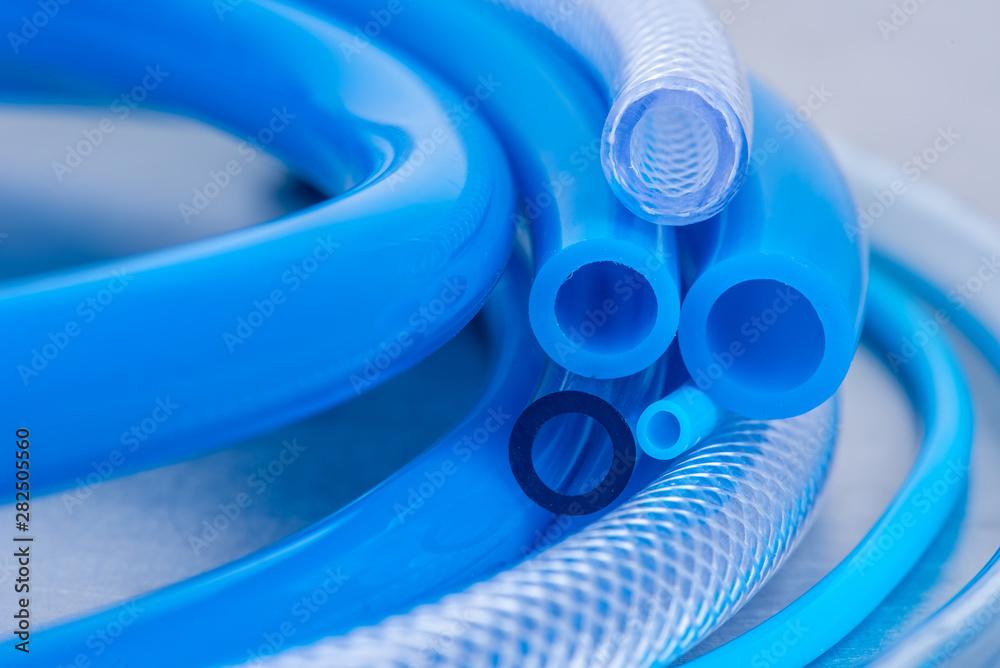 Fototapety, obrazy: Flexible PVC Tubing Hose Close-up