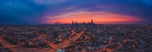 Sunrise Westloop Chicago Panorama