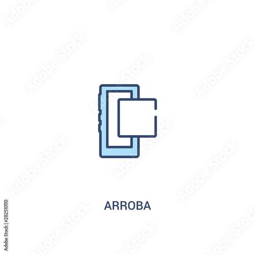 Photo arroba concept 2 colored icon