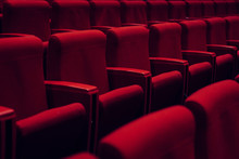 Red Theater Seats In A Row