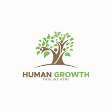 HUMAN GROWTH LOGO DESIGN UNIQUE