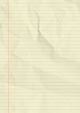 Yellow Lined Paper Texture Background