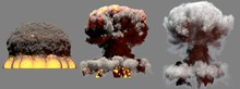 3D Illustration Of Explosion -...