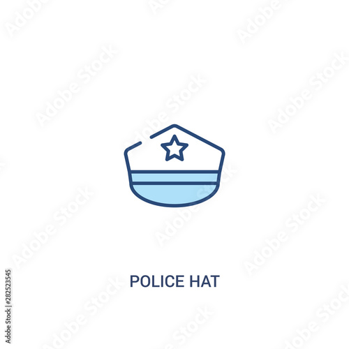 Valokuva police hat concept 2 colored icon