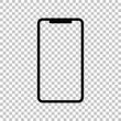 Smartphone sign. Black icon on transparent background. Illustration.