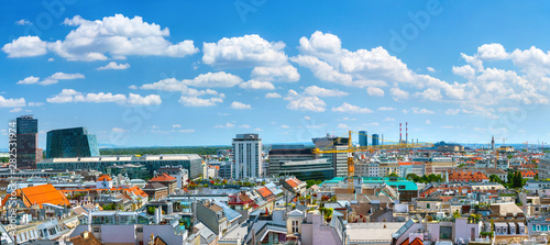 Aerial panoramic cityscape view of austrian capital city of Vienna Wallpaper Mural