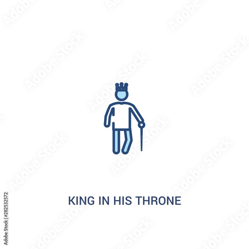 king in his throne concept 2 colored icon Wallpaper Mural