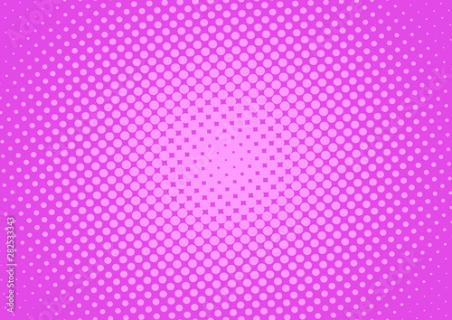 Magenta pink pop art background in retro comic style with gradient halftone dots design, vector illustration eps10 - 282533343
