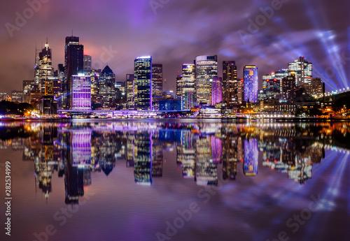 Sydney skyline at night Wallpaper Mural