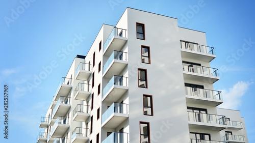Fototapeta modern building with balconies obraz