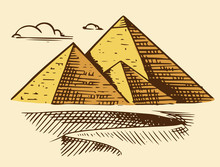Great Pyramid Of Giza. Seven W...