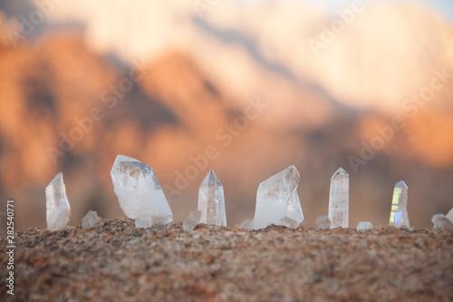 Crystals for spiritual healing stone intention manifestation Fotobehang