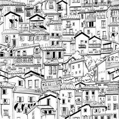 Fototapeta Architektura Menton Old Town, France