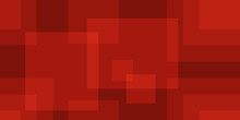 Abstract Red Square Background...
