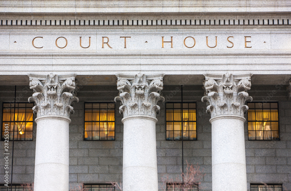 Fototapety, obrazy: Facade of courthouse with columns.