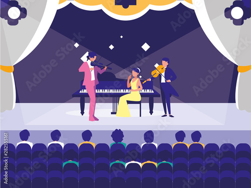 people musicians concert event design