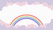 Leinwandbild Motiv Abstract kawaii colorful frame rainbow background. Soft gradient pastel Comic graphic. Concept for children and kindergartens or presentation