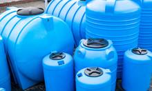 Blue Plastic Barrels For Drinking Water, Liquid Storage Tanks