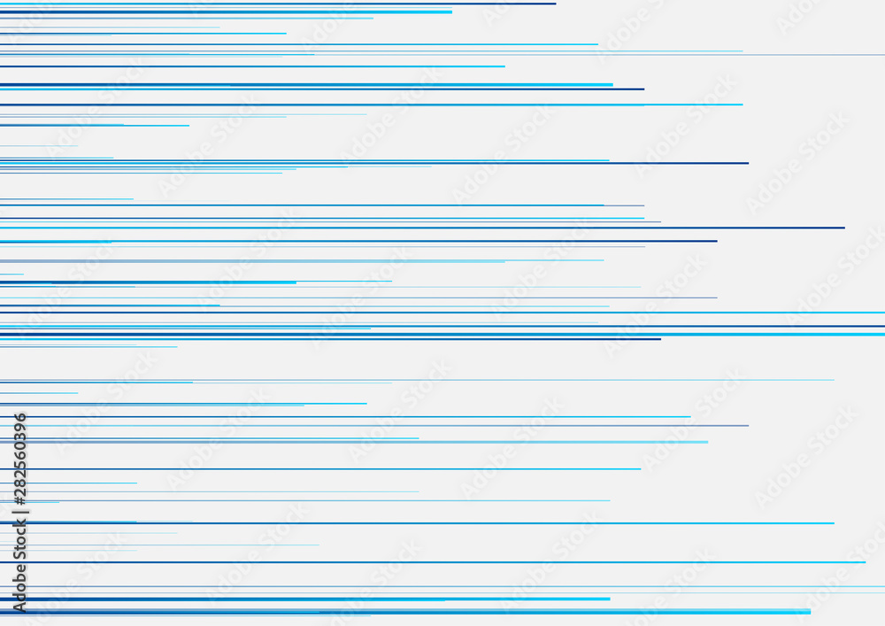 Fototapeta Futuristic technology modern graphic design with blue lines. Abstract geometric background. Vector minimal illustration