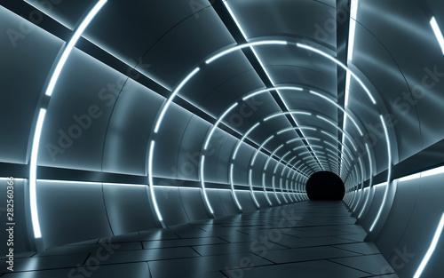 Naklejki na meble Podświetlany projekt korytarza