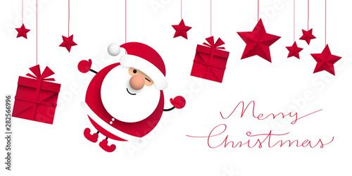 Valokuva Święty Mikołaj. Bożonarodzeniowa kartka z życzeniami wektor