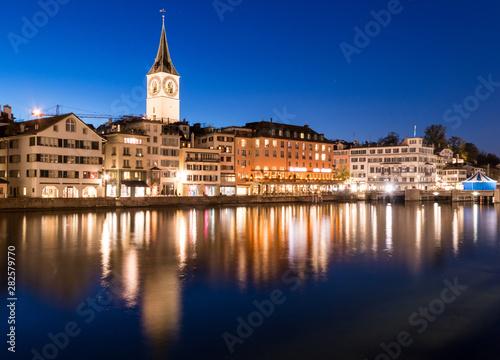 Zurich skyline with St Canvas Print