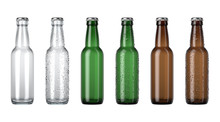 Empty Beer Bottle Color Range